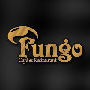 طراحی لوگو آرم نماد نشان تجاری برند رستوران و فست فود فانگو Fungo Restaurant fast food logo