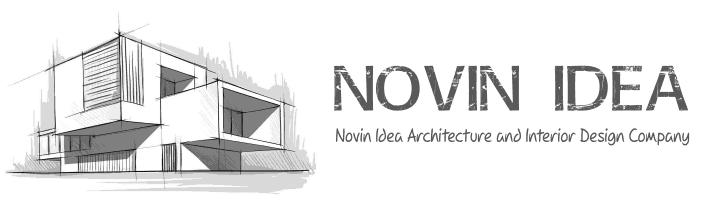 طراحی سایت وبسایت وب برند شرکت معماری داخلی نوین ایدهNovin Idea Site web website brand