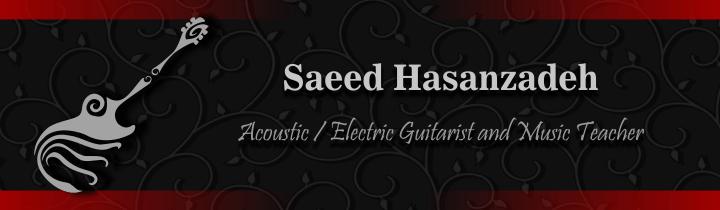 طراحی سایت وبسایت وب برند استاد نوازنده گیتار پاپ کلاسیک الکتریک باس بیس سعید حسن زادهSaeed hasanzadeh guitar musician Site web website brand