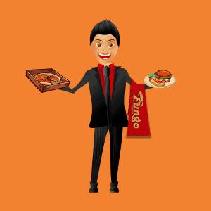 طراحی گرافیک کاراکتر سر آشپز store shop baner restaurant Character