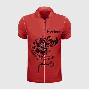 طراحی گرافیک تی شرت رستم Tshirt Rostam graphic